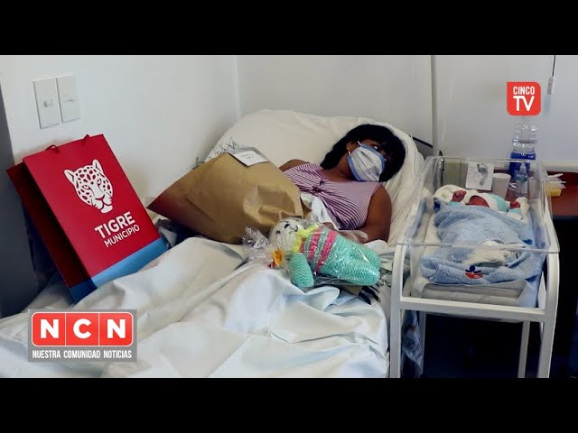 CINCO TV - Julio Zamora, conoció a Ciro, el bebé N° 25.000 en el Hospital Materno Infantil de Tigre