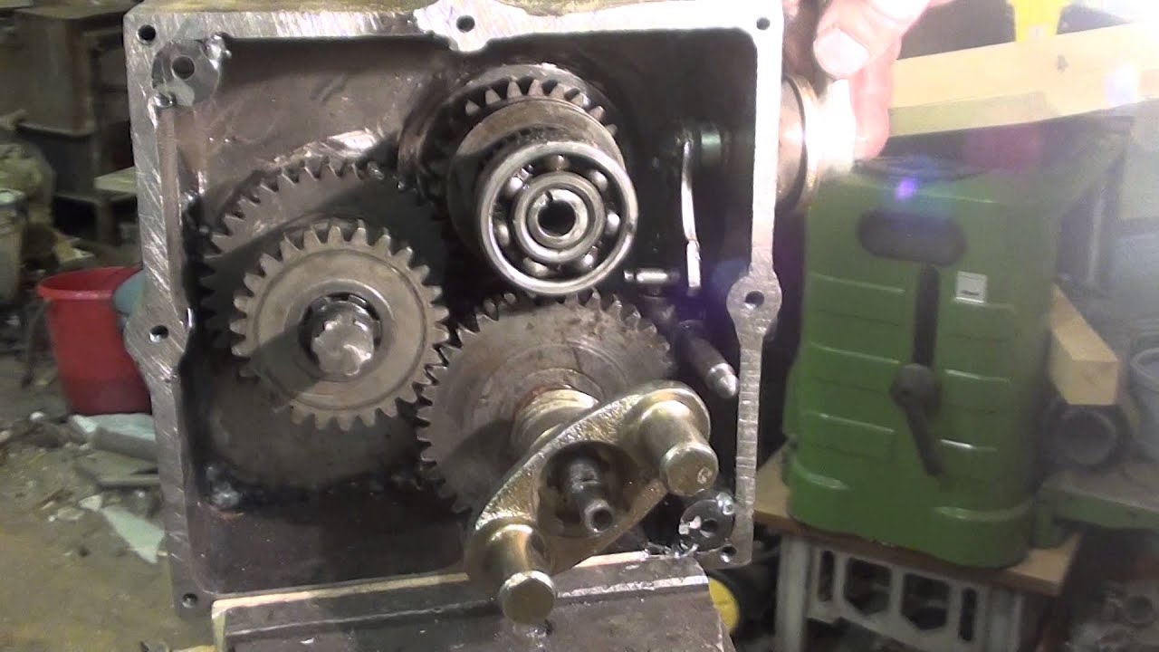 Понижающая коробка на мотоцикл Урал - YouTube