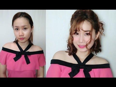 Makeup - Trang Điểm Đơn Giản Cùng Tóc Xoăn Xù Mì Hàn Quốc | Yêu Làm Đẹp