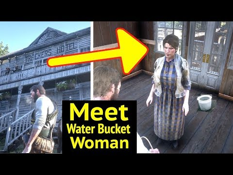Meeting White Bucket Woman in Red Dead Redemption 2 (RDR2): Trackers Hotel, Strawberry thumbnail