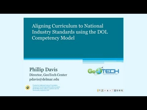 Aligning Curriculum to National Industry Standards