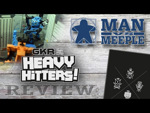Giant Killer Robots: Heavy Hitters (Weta Workshop/Cryptozoic Games) Review by Man Vs Meeple