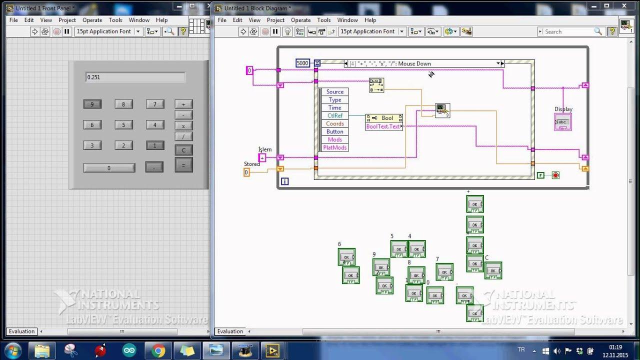 Block Diagram Labview Wiring Master Blogs Dersleri 6 Calculator Youtube View Show