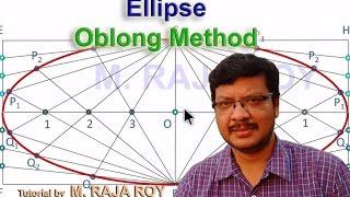 Engineering Drawinng - Ellipse by Oblong Method