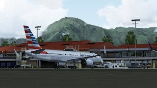 FSX [HD] - American Airlines 757-200 to Maui