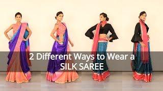 2 Ways to Wear a Silk Saree for Wedding - South Indian Saree