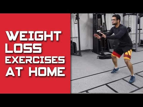 Weight loss workout with AT HOME Exercises!