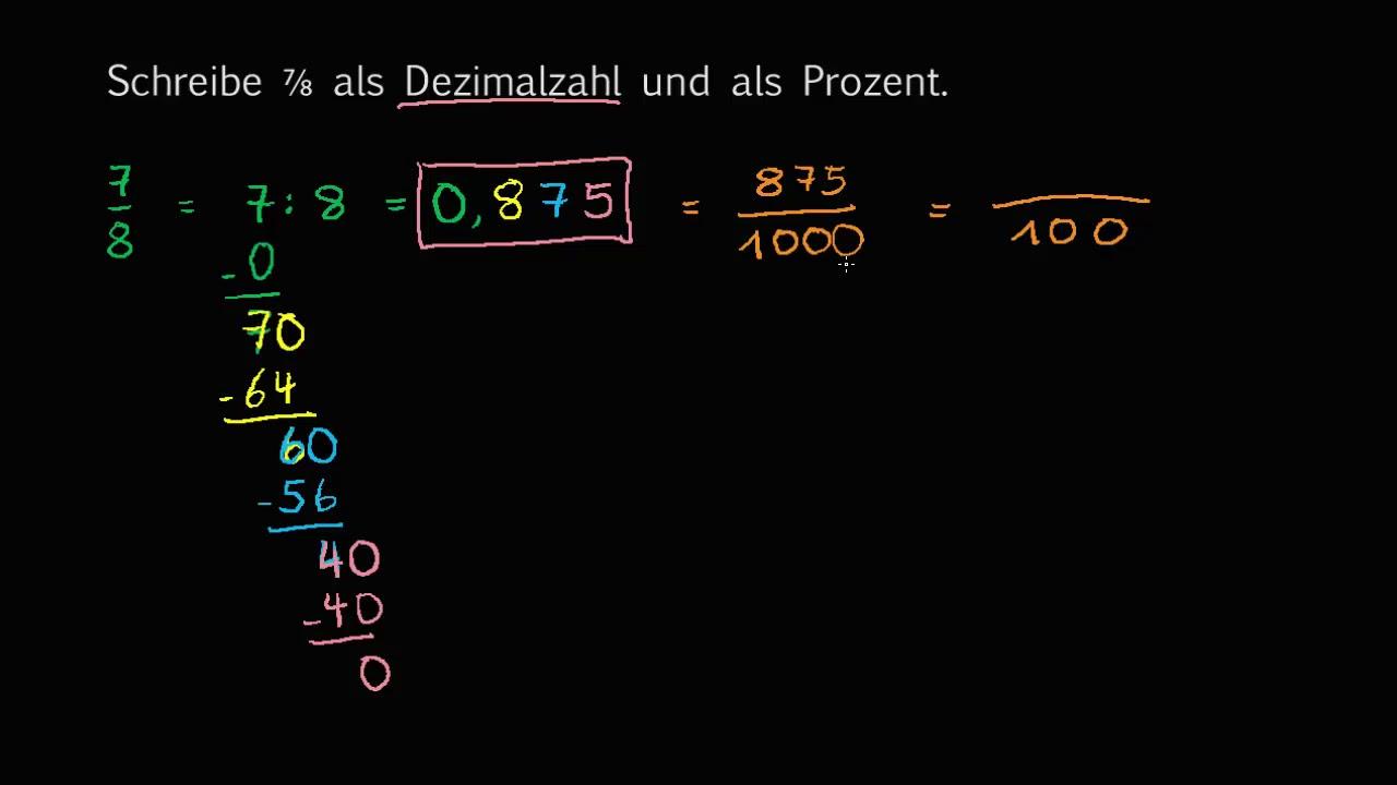 Prozent Mit Bruch Zu Dezimalzahl - Battwinsubt7