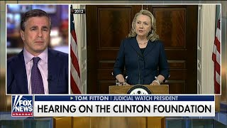 Tom Fitton Testifies to Congress on Allegations of Pay-to-Play at Clinton Foundation