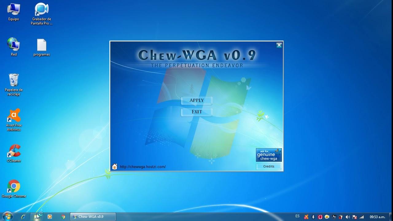 free download chew wga windows 7 ultimate