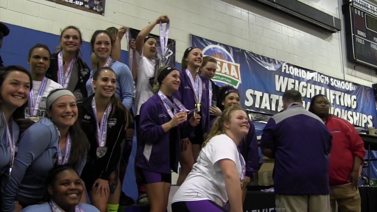 State Champs Fhsaa Girls Weightlifting Youtube