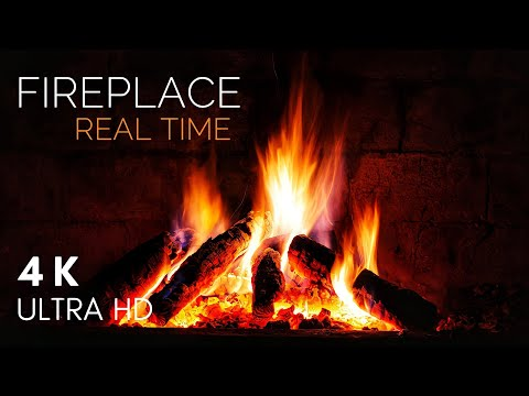 Relaxing Fireplace | Crackling Fire Sounds | 4K | Relaxing Music Station