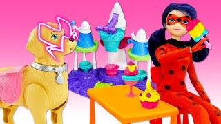 Лучшие видео для девочек - Леди Баг спасает собачку от Акумы! - Новые игры с пластилином ПлейДо.