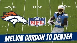 Melvin Gordon's Outlook with the Broncos for Fantasy Football!