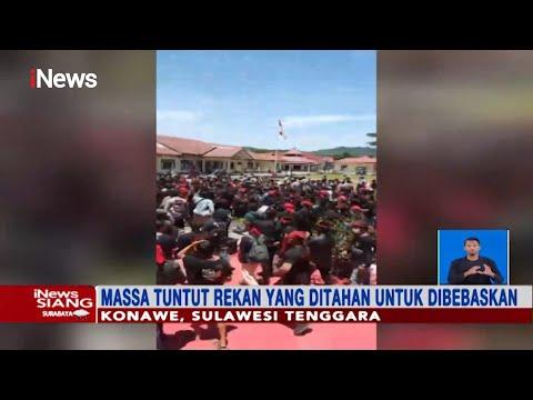 Tuntut Bebaskan 9 Orang, Ratusan Anggota Pemuda Adat Geruduk Kantor Polisi Konawe- INews Siang 14/03