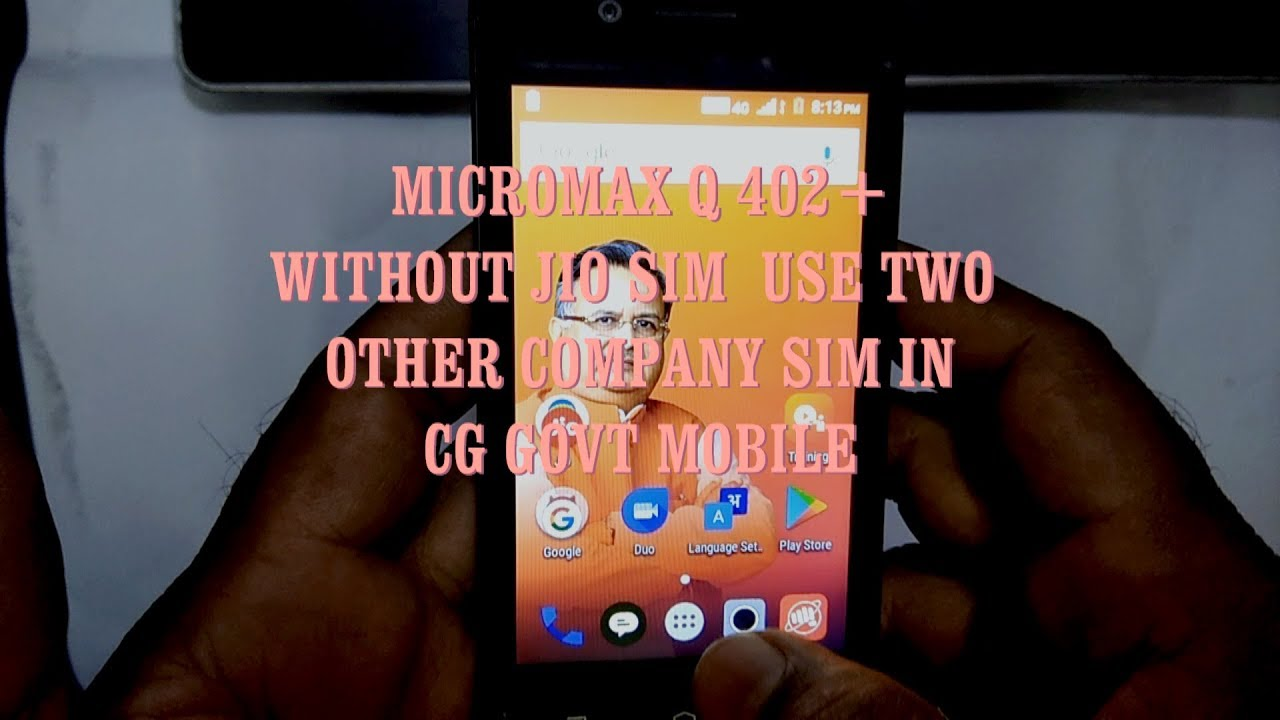 MICROMAX Q402+ WITHOUT JIO SIM USE 2 OTHER COMPANY SIM