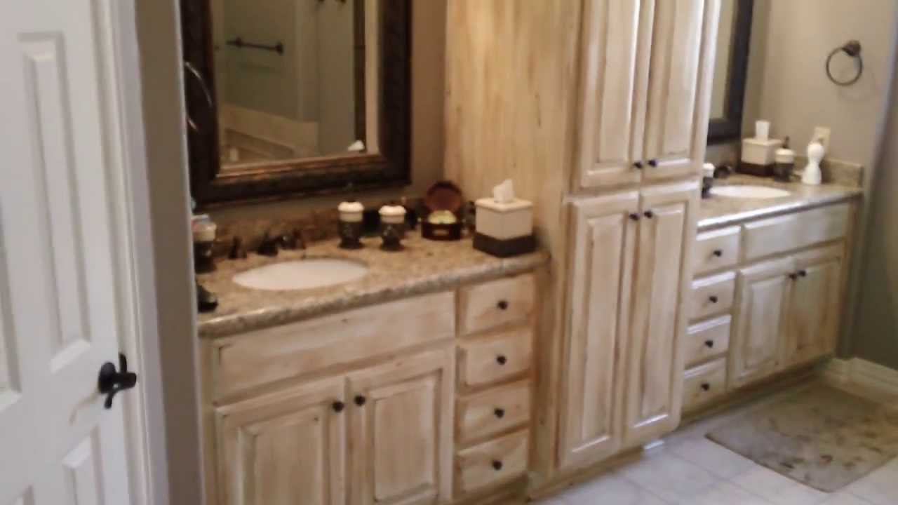 Cabinets Antique Finish- Bathroom Cabinets - Cabinets Antique Finish- Bathroom Cabinets - YouTube