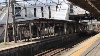 JR東日本485系華笠寺駅到着