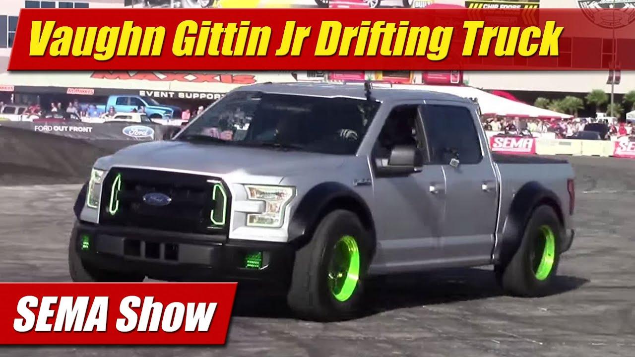 Sema Show 2014 Vaughn Gittin Jr Drifting Street Truck