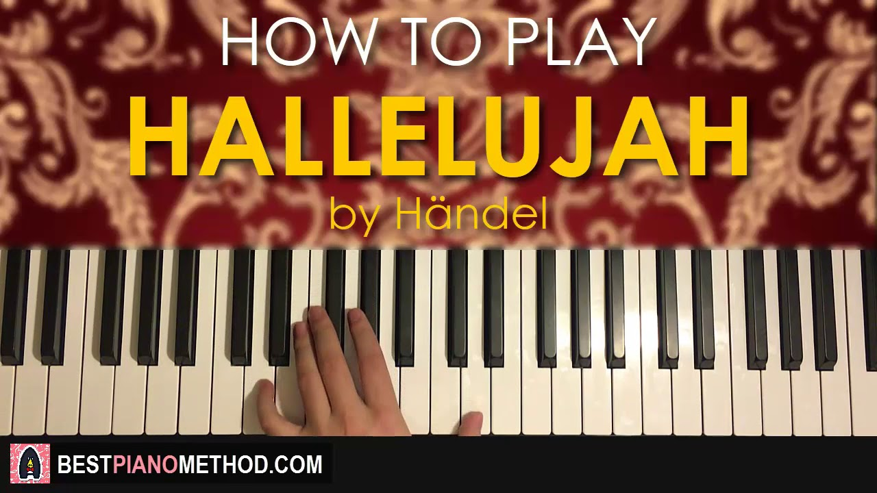how to play hallelujah on piano