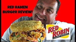 Red Robin® New RED RAMEN BURGER Review!
