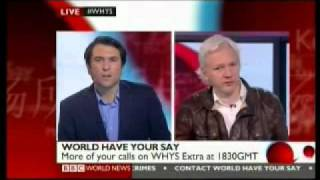WikiLeaks Jullian Assange BBC Online Interview 2 of 2 - BBC World Have Your Say Report