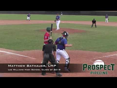 Matthew Bathauer Prospect Video, LHP, Lee Williams High School Class of 2019