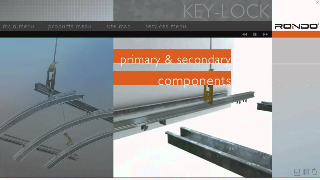 Rondo Key Lock Concealed Suspended Ceiling System