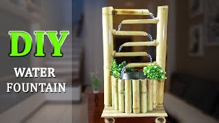 How to Make WONDERFUL BAMBOO WATER FOUNTAIN very easy