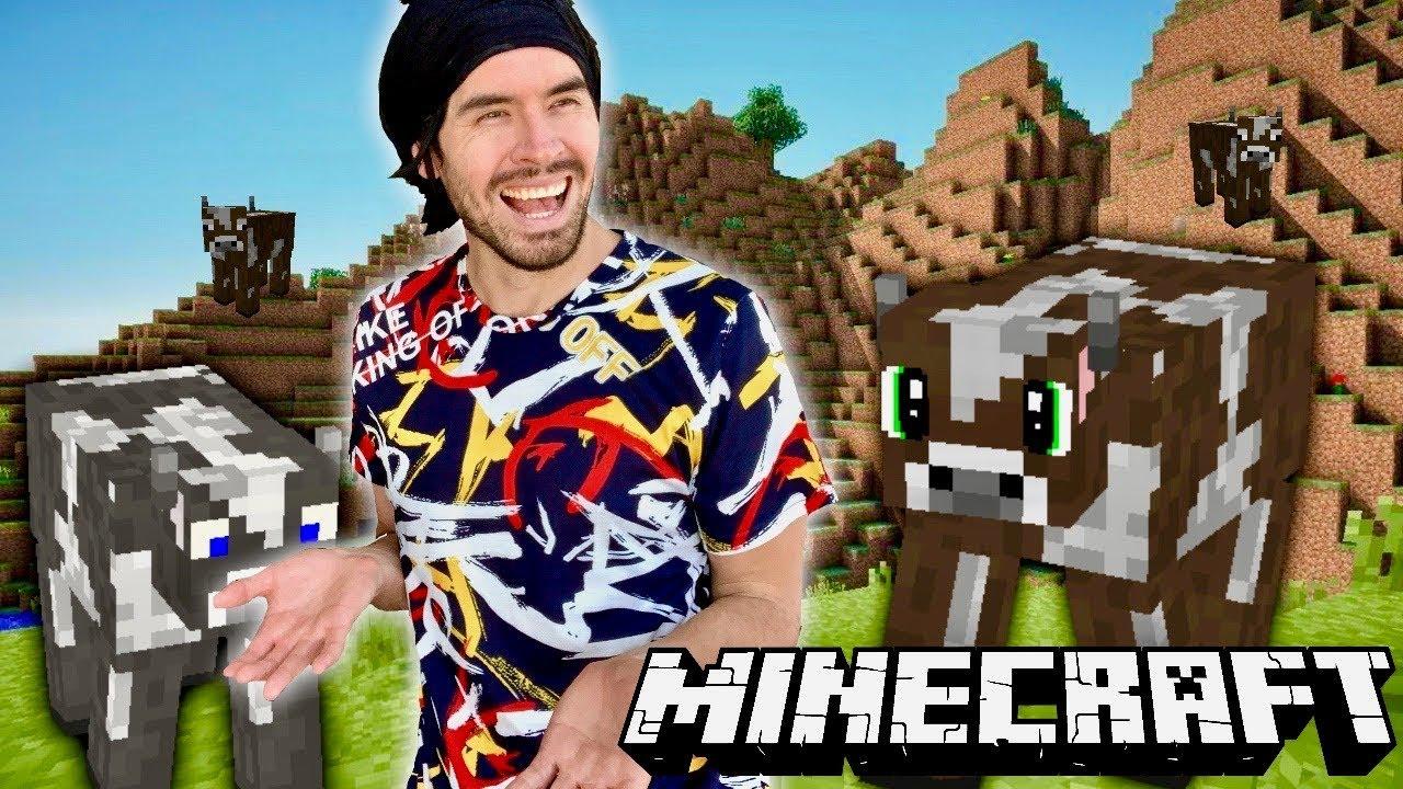 YO SOLO QUIERO VACAS, QUIERO TODAS LAS VACAS - Minecraft