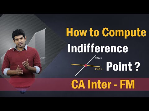 How to Compute Indifference Point In Financial Management | Illustration | CA Inter | May 2020