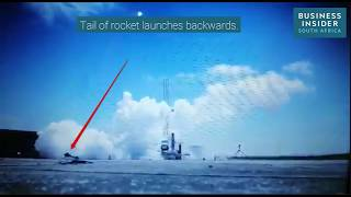 A failed South African rocket launch ends with a spectacular bang