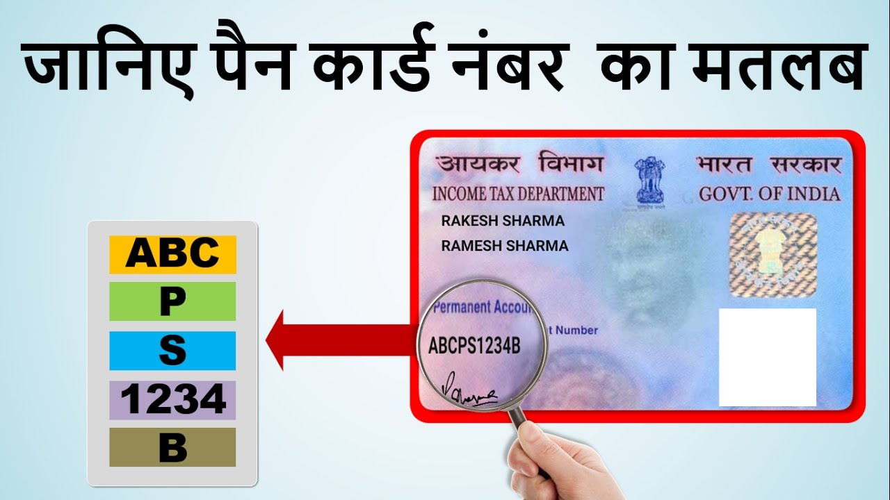 PAN Card Number Meaning  Know Each Character of Your PAN Number