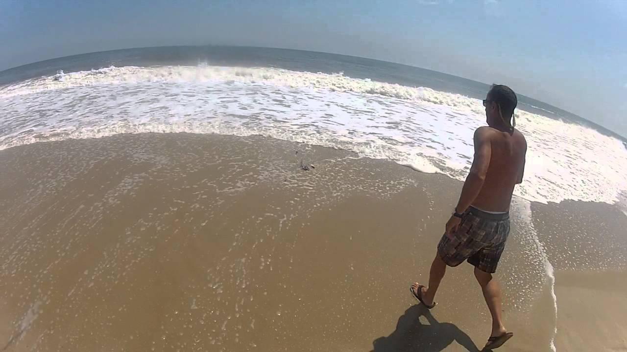 Skate in bethany beach delaware surf fishing youtube for Delaware surf fishing