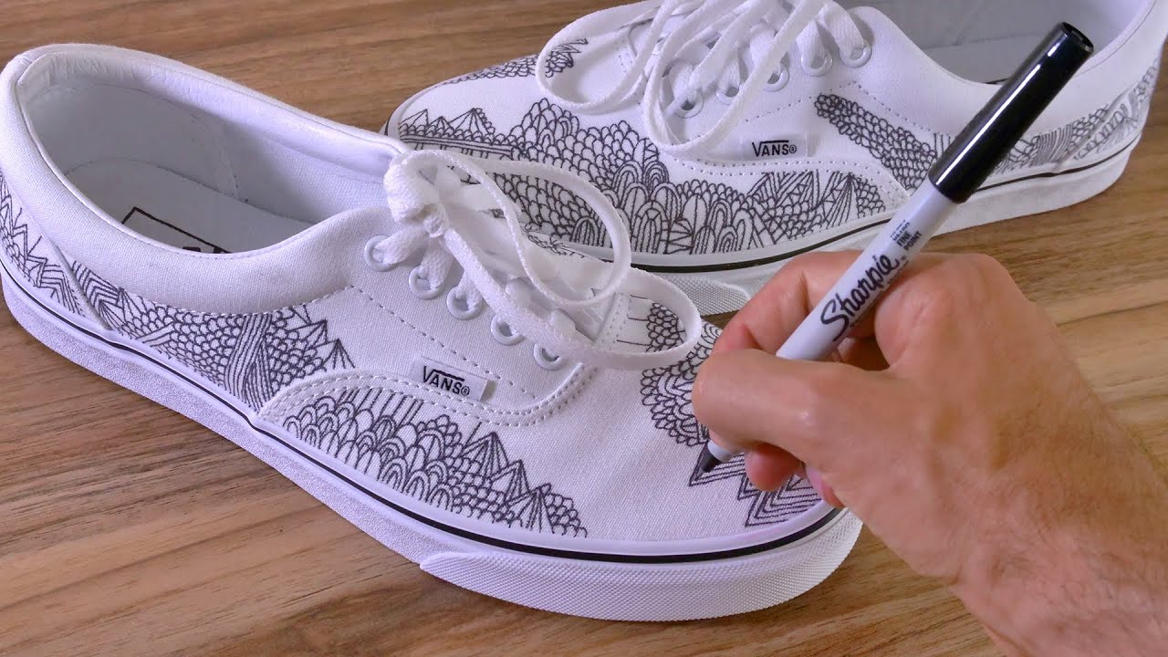 Drawing on my VANS shoes (Make Your Own