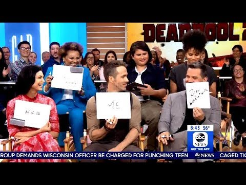 Cast Of Deadpool 2 Drops By (GMA)