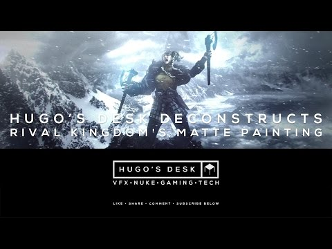 Hugo Deconstructs - Rival's Kingdom Matte Painting - Nuke Compositing - Tutorial  - 4K