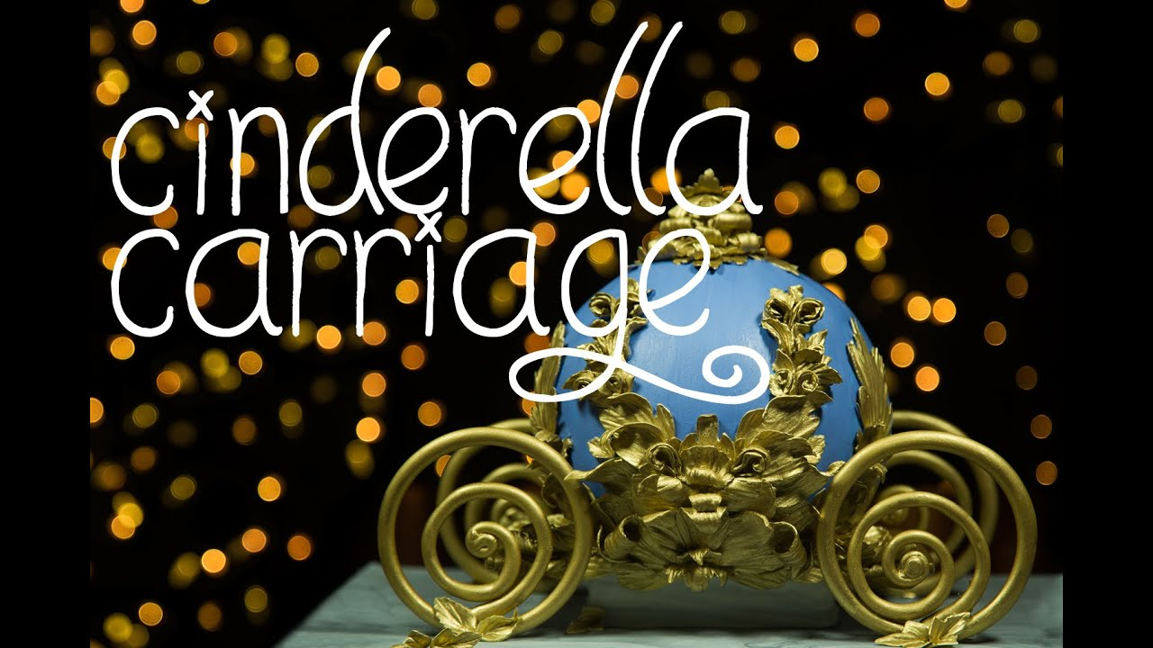 Cinderella Carriage Cake Tutorial Youtube
