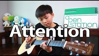 Attention (Charlie Puth) _ fingerstyle guitar arranged & cover by 10-year-old kid Sean Song