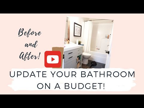#interiordesign #interiordecorating HOW TO UPDATE YOUR FARMHOUSE BATHROOM ON A BUDGET|2019
