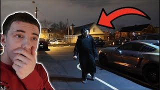MOMO FOLLOWED ME TO MY CAR! *WE TRIED TO UNMASK THIS STALKER*