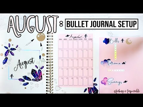 Plan With Me || August Bullet Journal Setup W/ Stickers