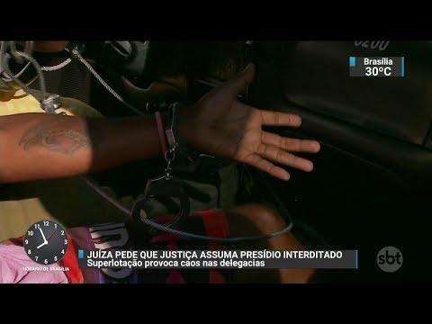 Juíza pede que Justiça Federal assuma administração de presídio no RS | SBT Brasil 17/10/17