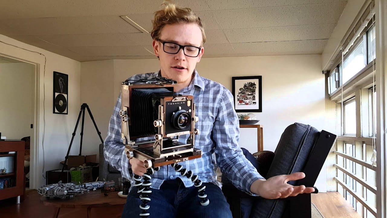 Ebony RW45 4x5 field camera - YouTube