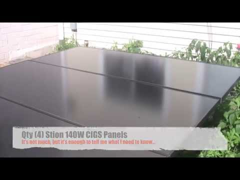 Solar Power / Thin Film Panels / Overcast Conditions / Data Analysis