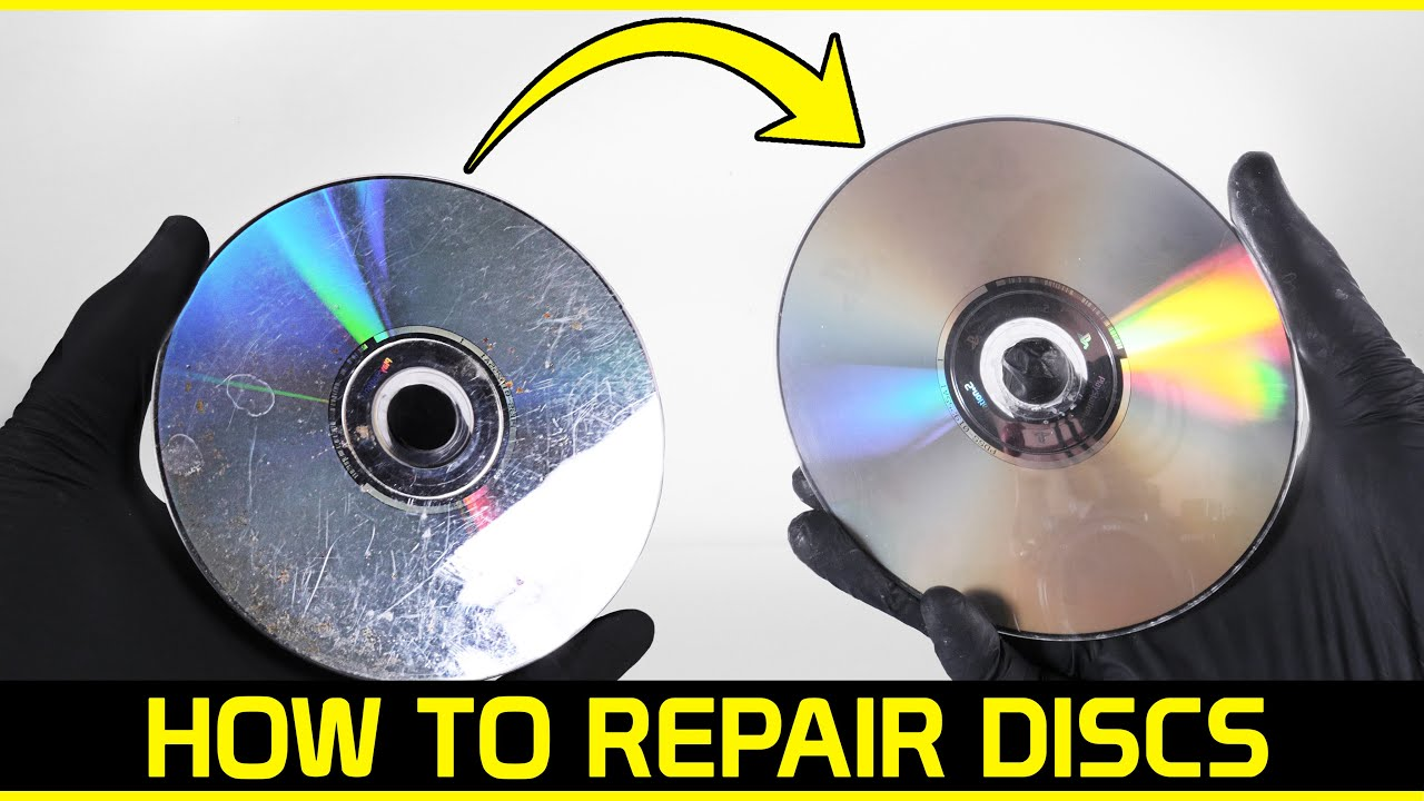 Repair & restoration of a scratched PS2 game disc - Howto resurface discs