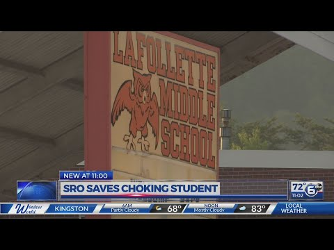 School resource officer saves LaFollette Middle School student from choking