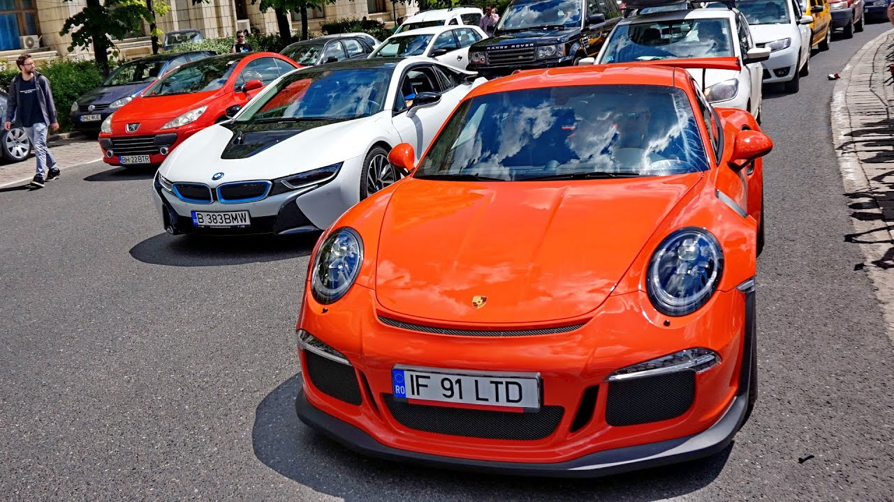 Porsche 991 Gt3 Rs And Bmw I8 Crazy Acceleration In The Bucharest