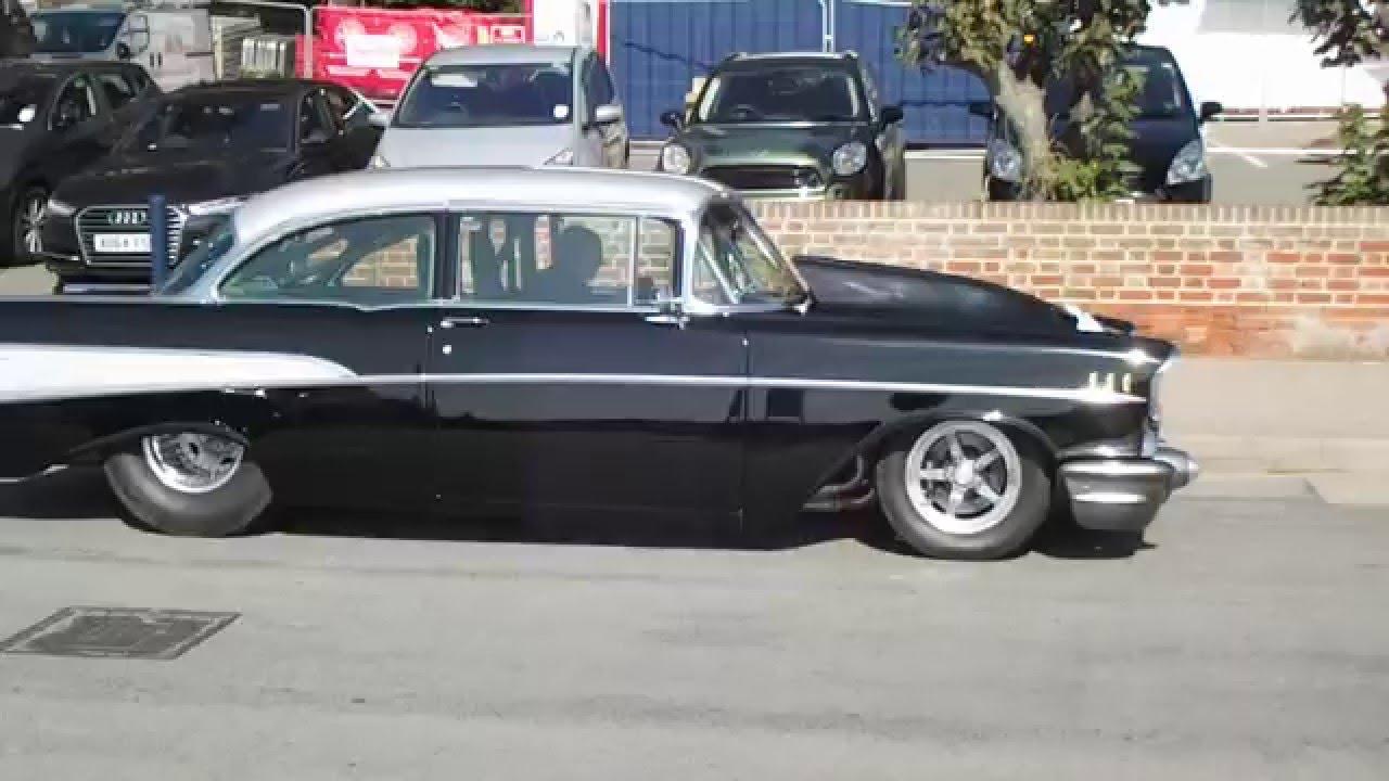 Chevrolet Bel Air Drag Car On The Road In Felixstowe Youtube 1966 Rear View
