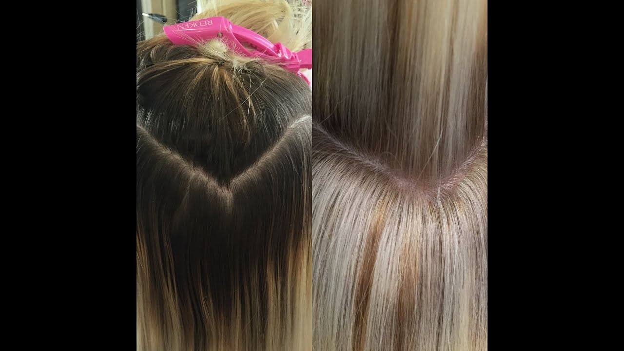 Retouching Dark Roots To Blonde Roots New Technique